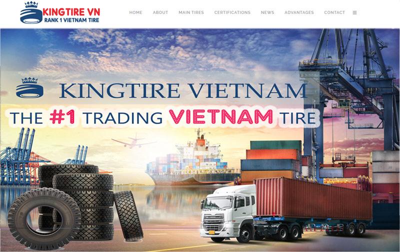 thiết kế web ngành lốp xe kingtire vietnam tại đà nẵng