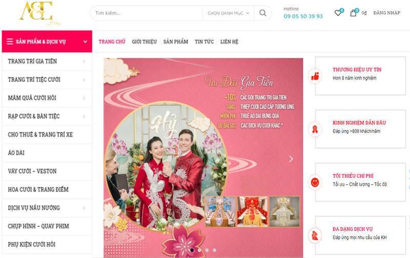 thiết kế web dịch vụ cưới hỏi đà nẵng tp hcm