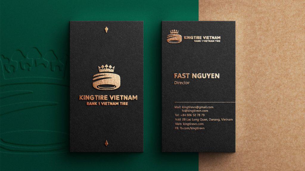 thiết kế card visit đà nẵng business card đà nẵng cho king tire vietnam